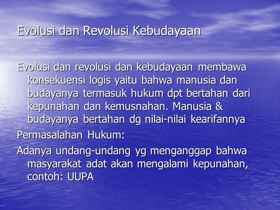 Evolusi dan Revolusi Kebudayaan