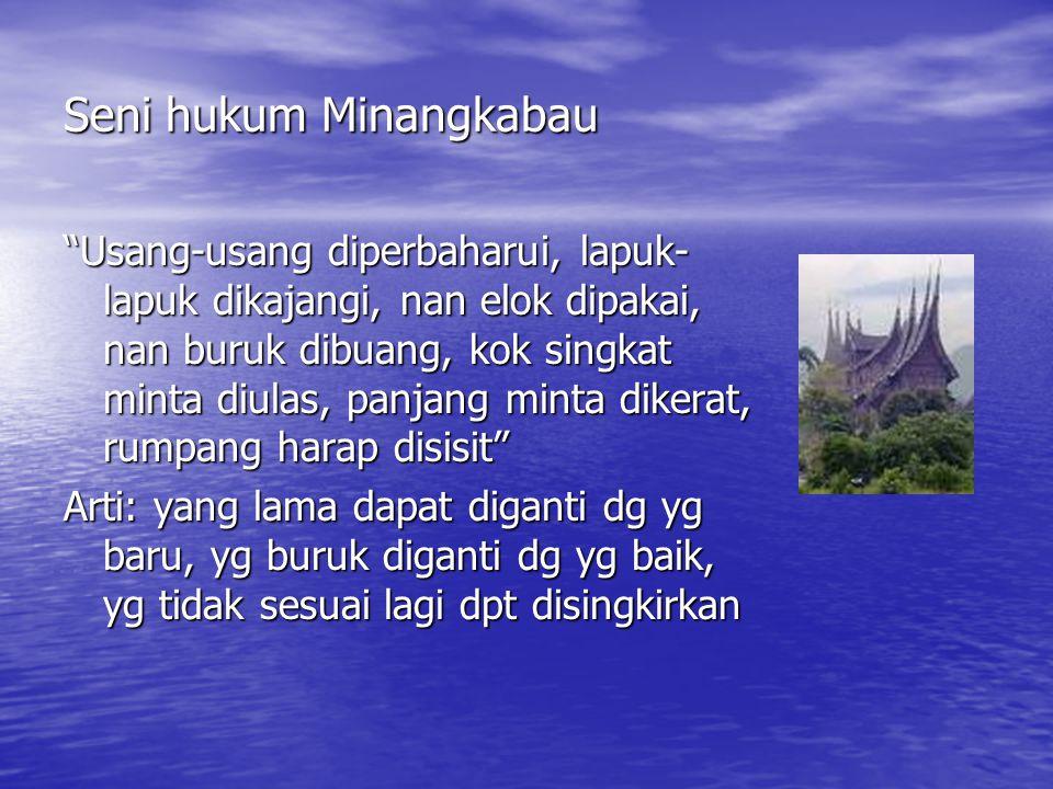Seni hukum Minangkabau