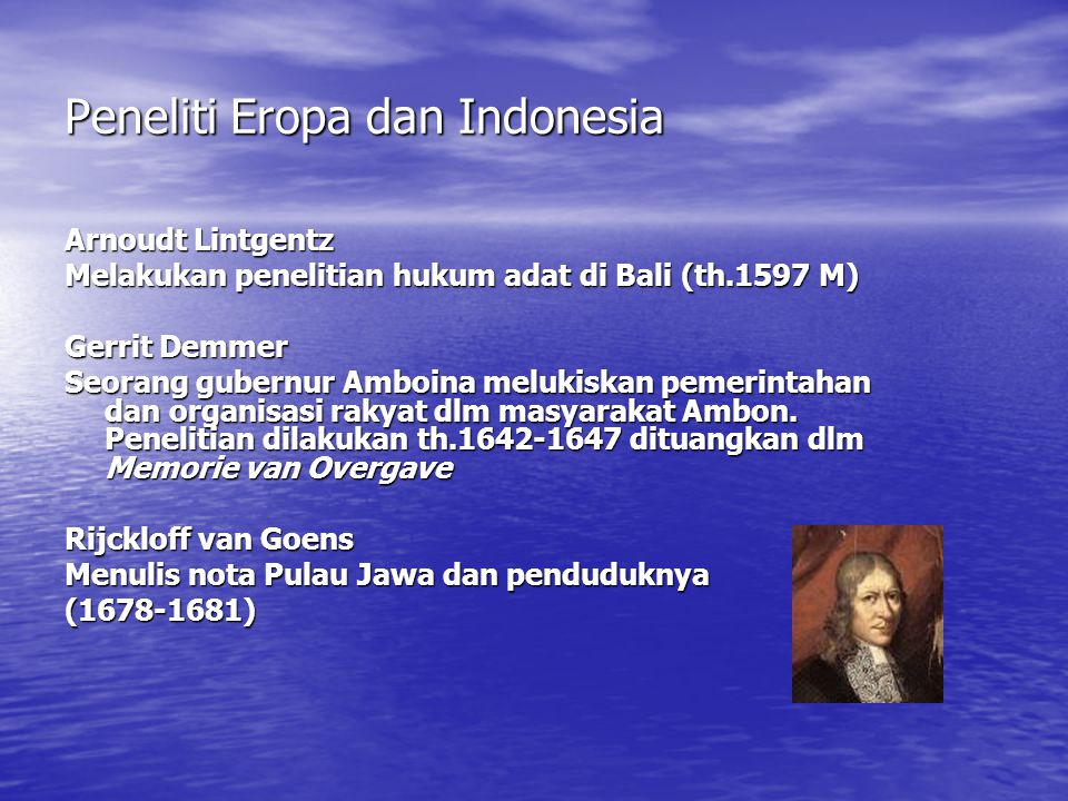 Peneliti Eropa dan Indonesia
