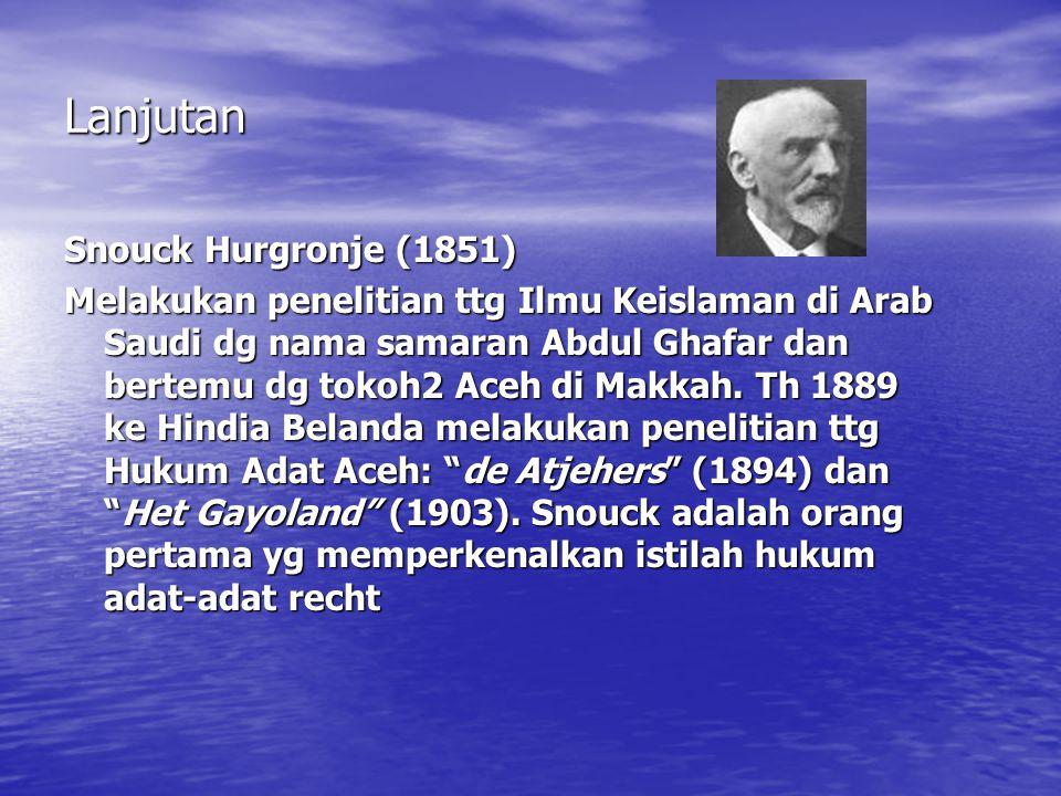 Lanjutan Snouck Hurgronje (1851)