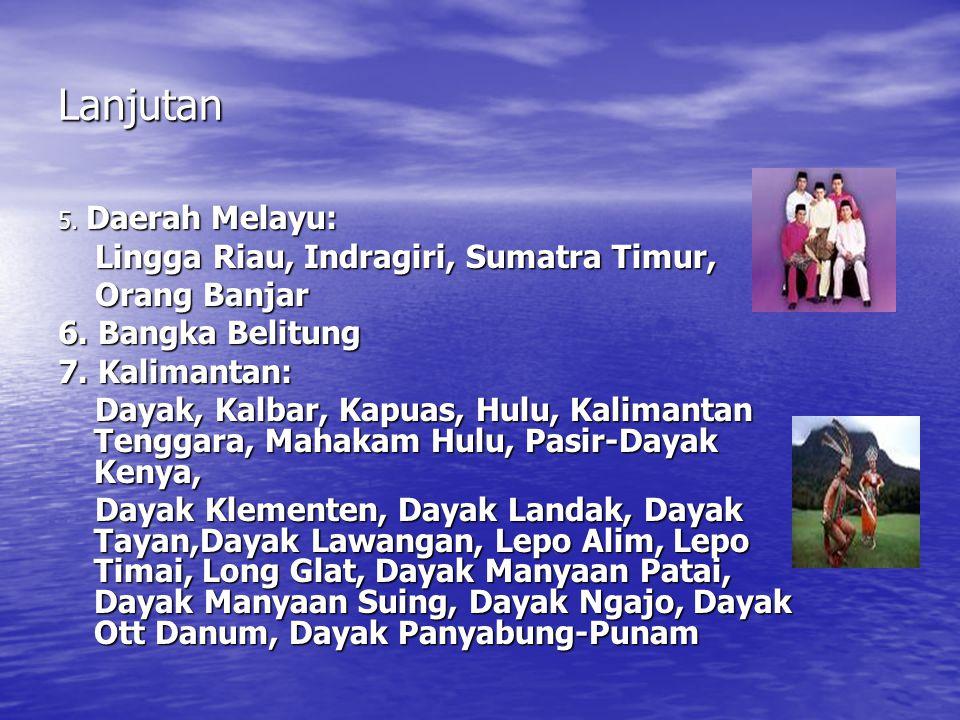 Lanjutan Lingga Riau, Indragiri, Sumatra Timur, Orang Banjar