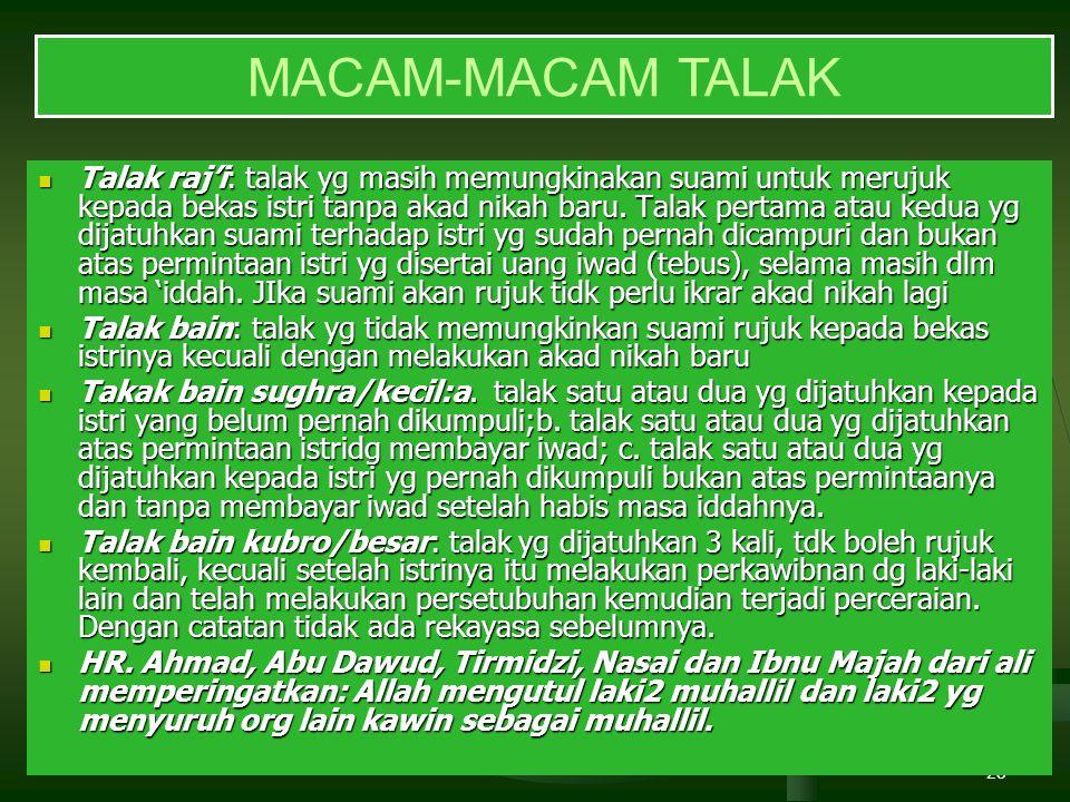 MACAM-MACAM TALAK