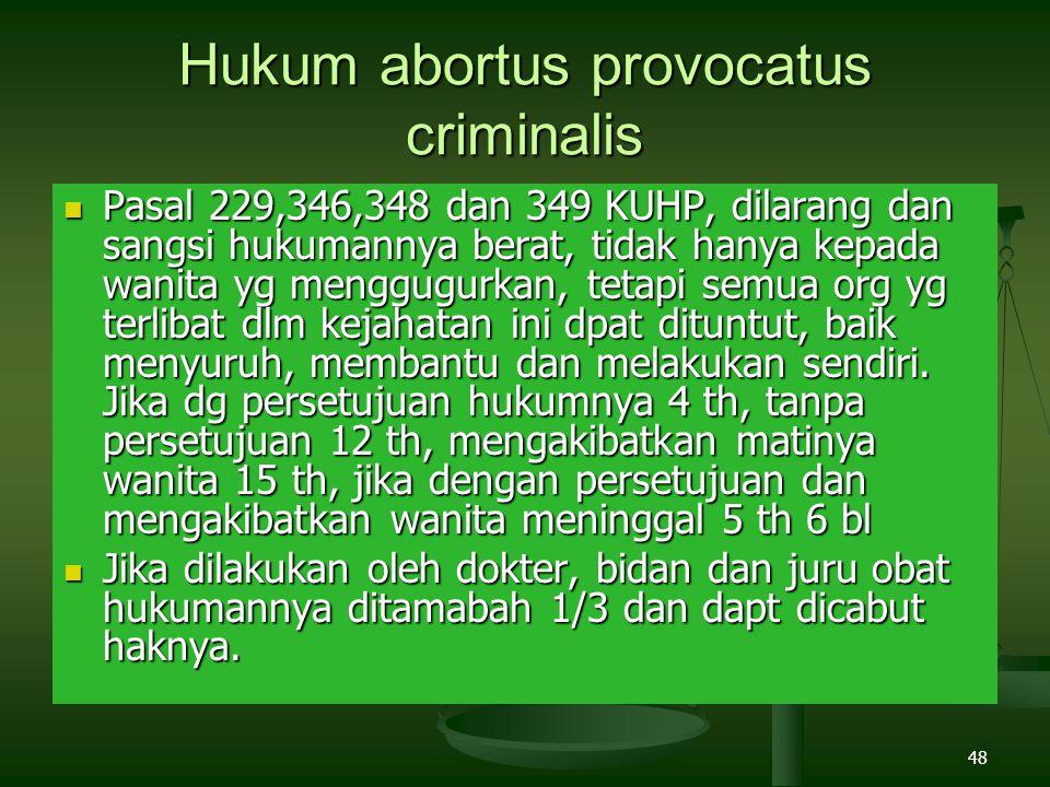 Hukum abortus provocatus criminalis