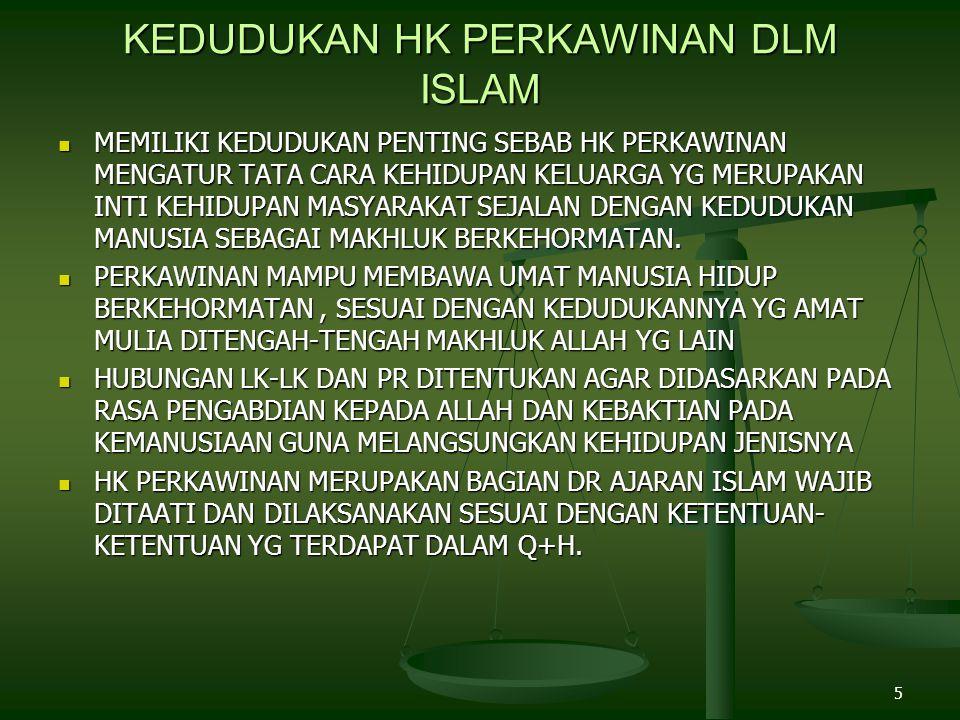 KEDUDUKAN HK PERKAWINAN DLM ISLAM