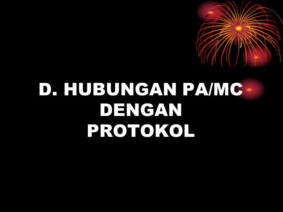 D. HUBUNGAN PA/MC DENGAN PROTOKOL