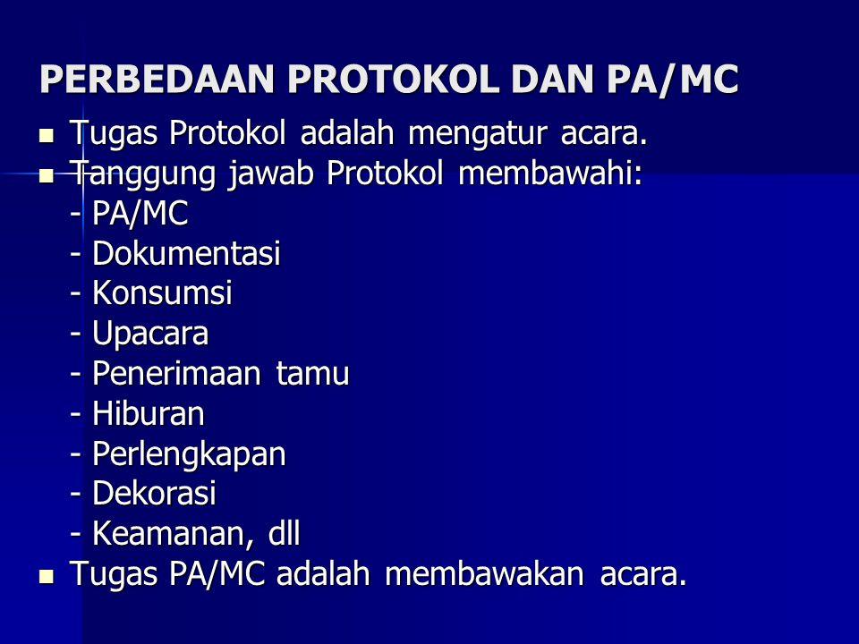 PERBEDAAN PROTOKOL DAN PA/MC