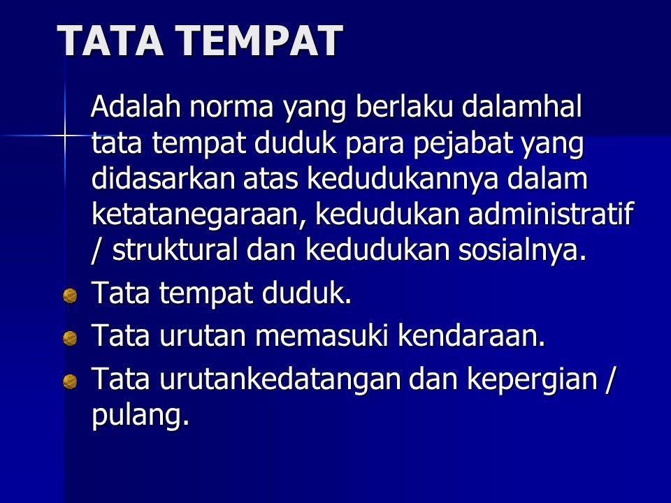 TATA TEMPAT