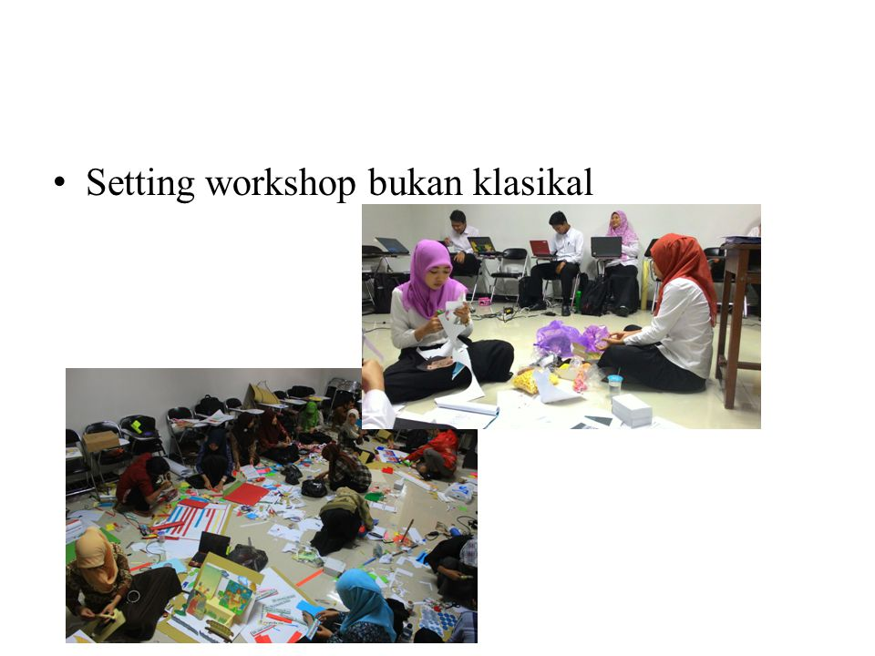Setting workshop bukan klasikal