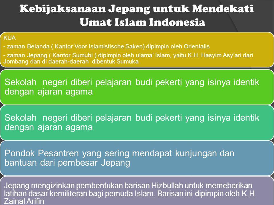 Kebijaksanaan Jepang untuk Mendekati Umat Islam Indonesia