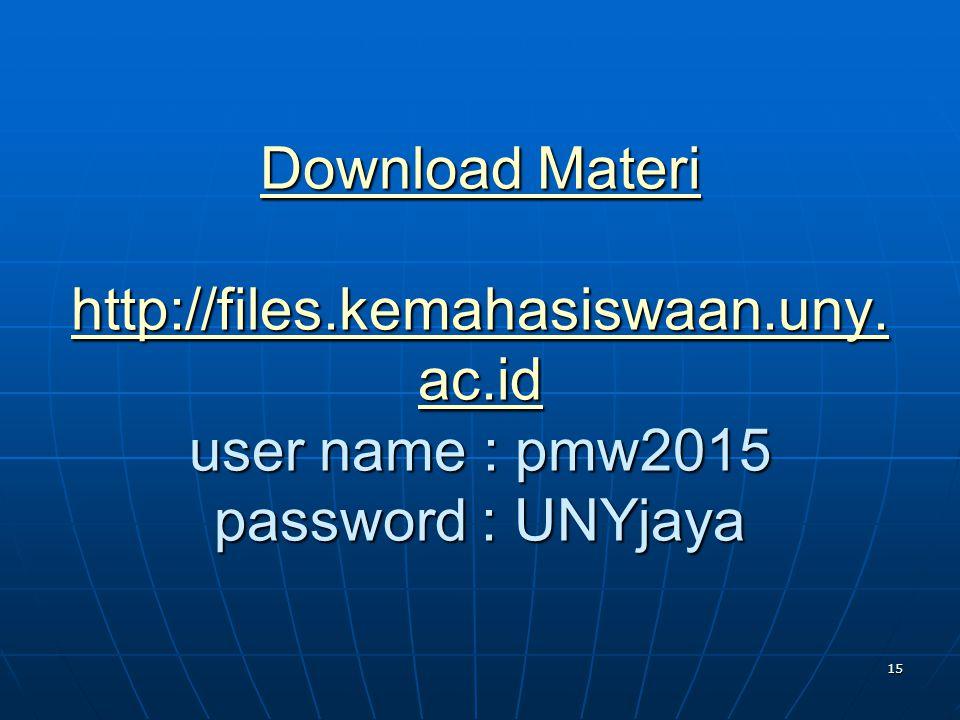 Download Materi http://files. kemahasiswaan. uny. ac