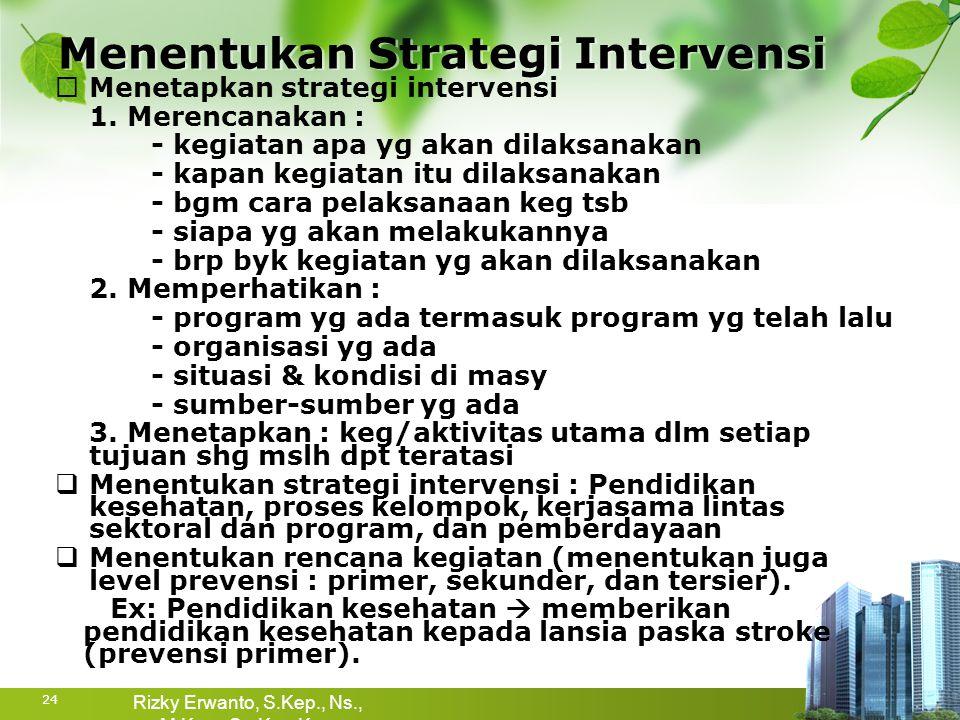 Menentukan Strategi Intervensi
