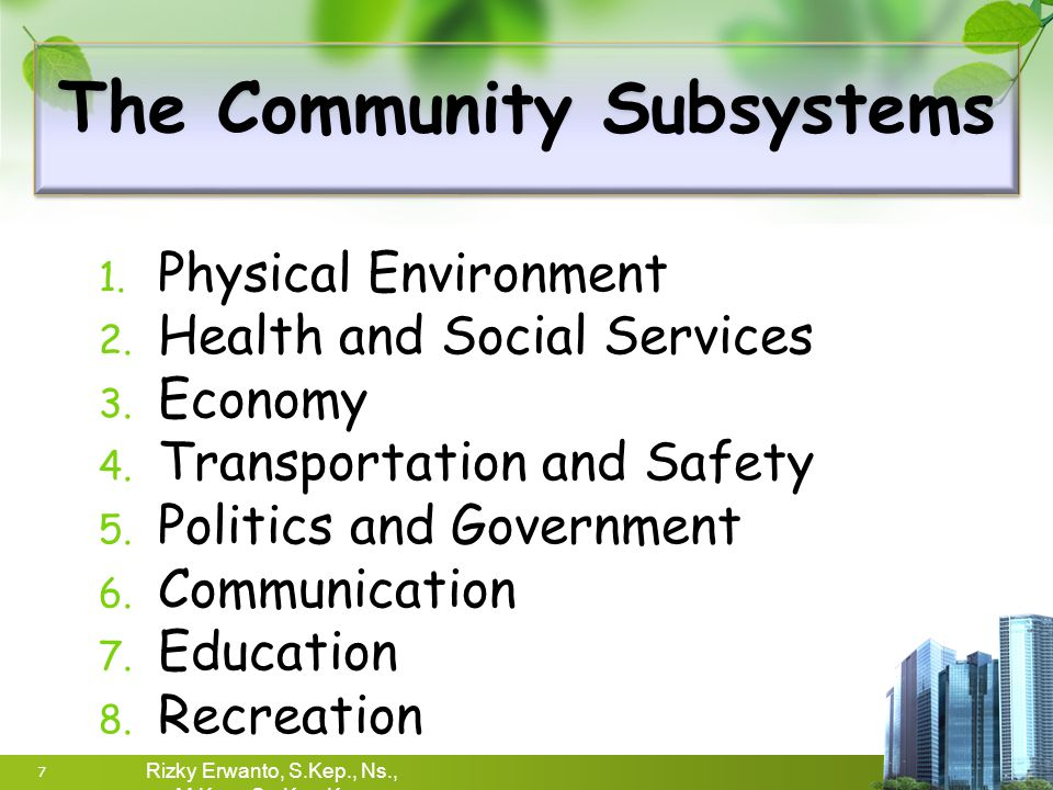The Community Subsystems