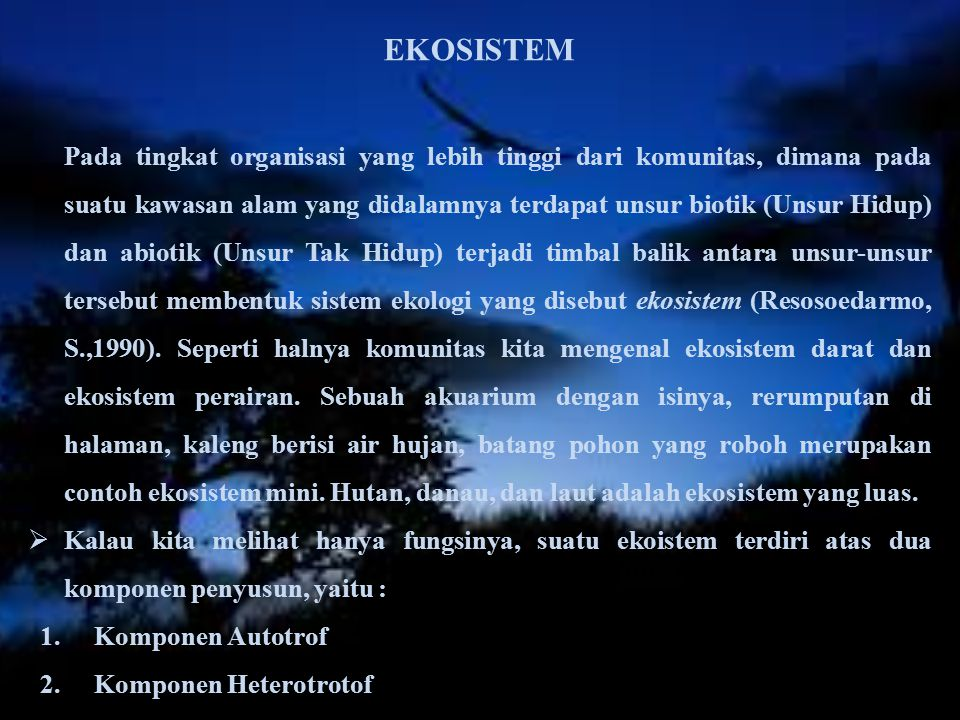 EKOSISTEM