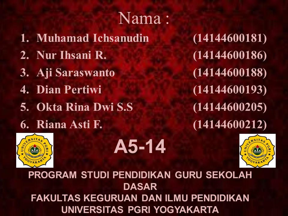A5-14 Nama : Muhamad Ichsanudin (14144600181)