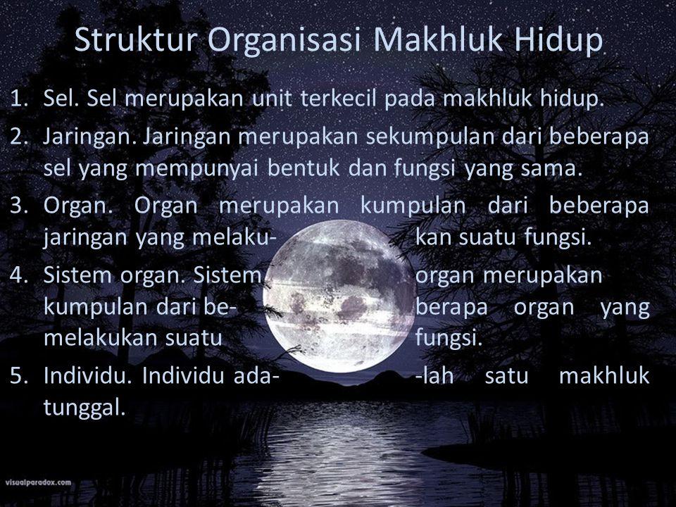 Struktur Organisasi Makhluk Hidup