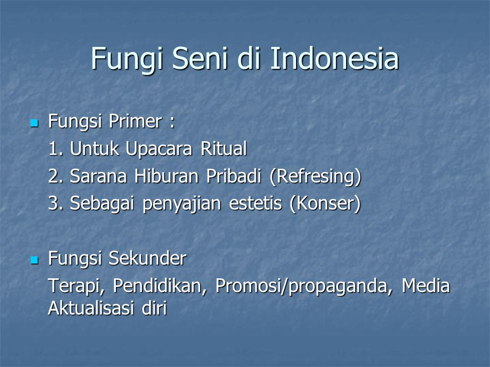 Fungi Seni di Indonesia