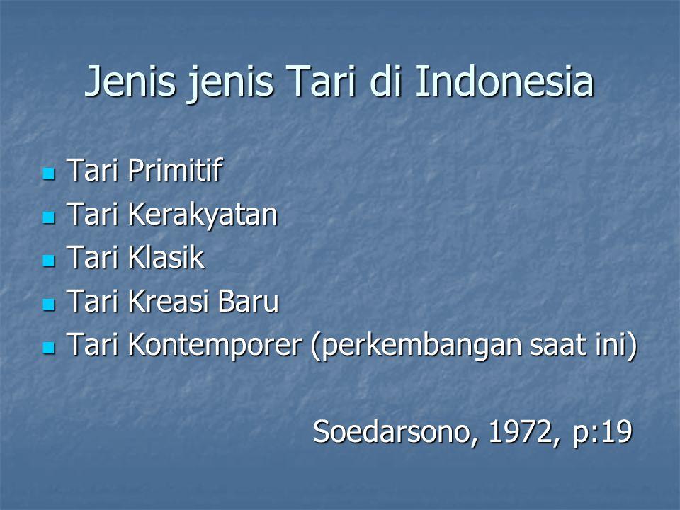Jenis jenis Tari di Indonesia