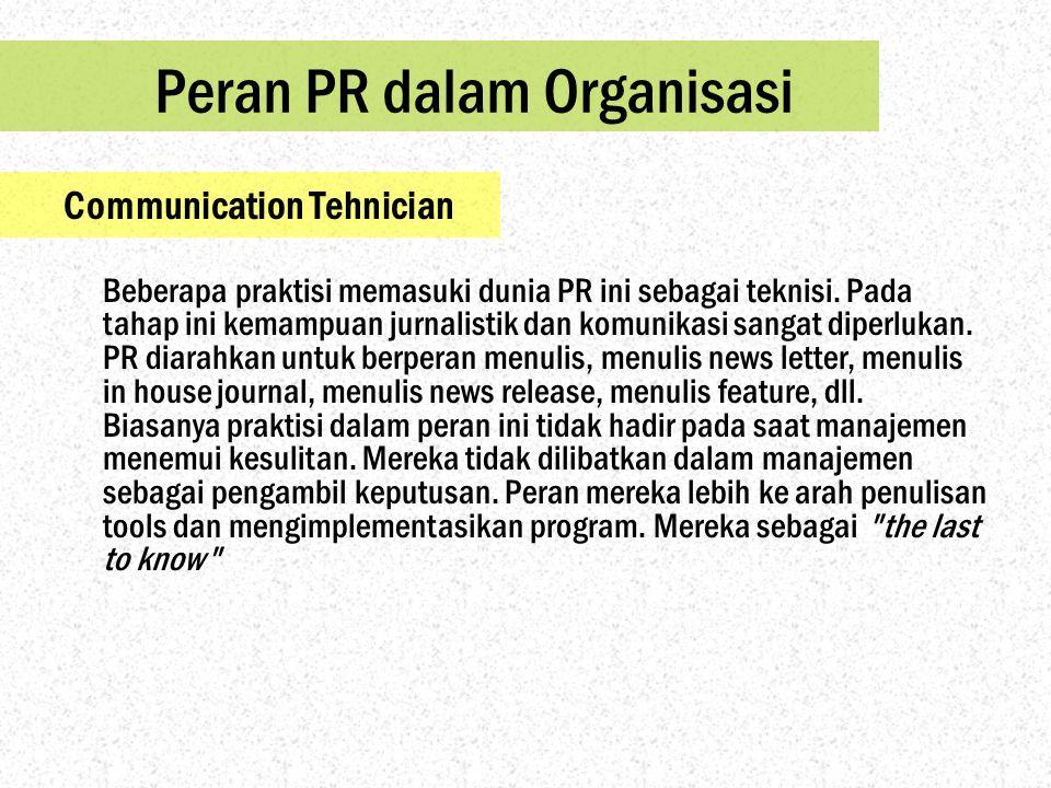 Peran PR dalam Organisasi