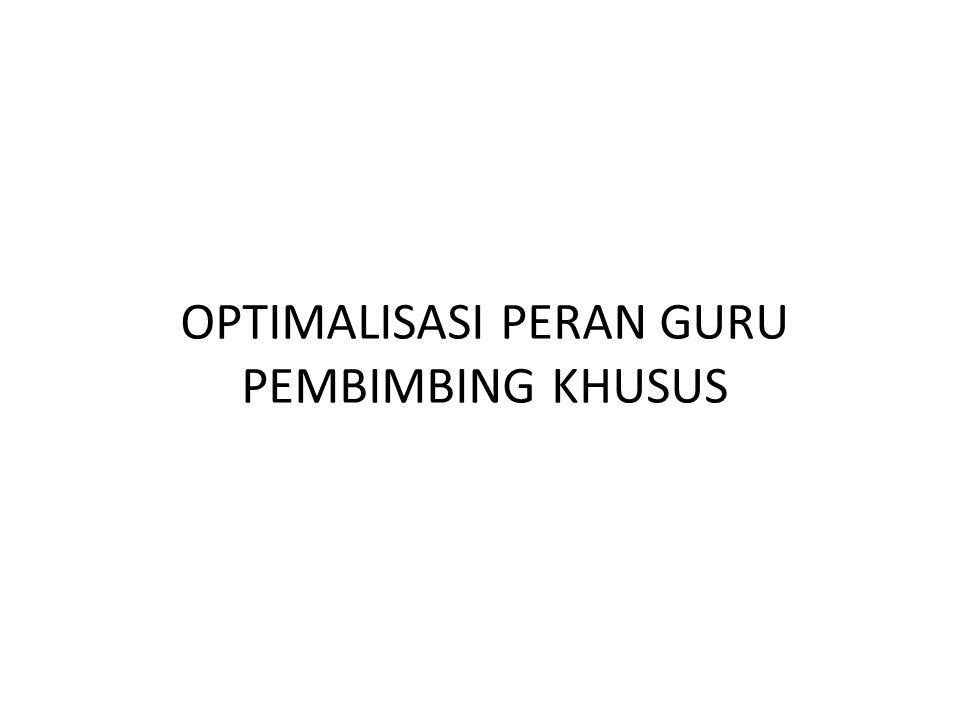 OPTIMALISASI PERAN GURU PEMBIMBING KHUSUS