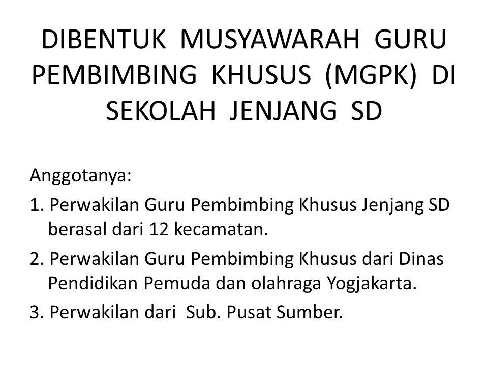 DIBENTUK MUSYAWARAH GURU PEMBIMBING KHUSUS (MGPK) DI SEKOLAH JENJANG SD