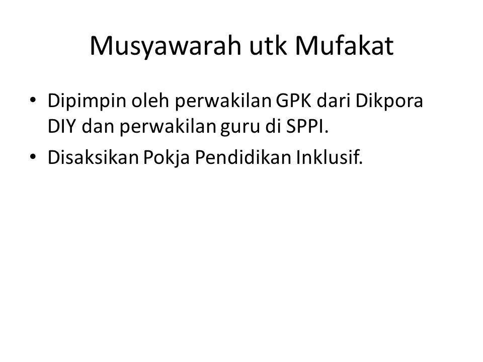 Musyawarah utk Mufakat