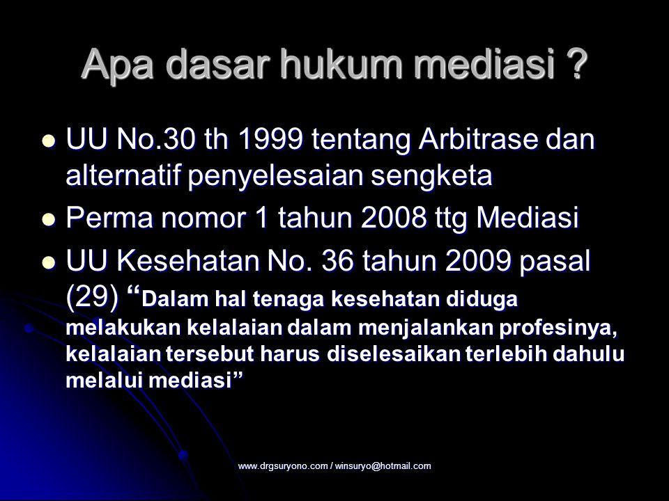Apa dasar hukum mediasi