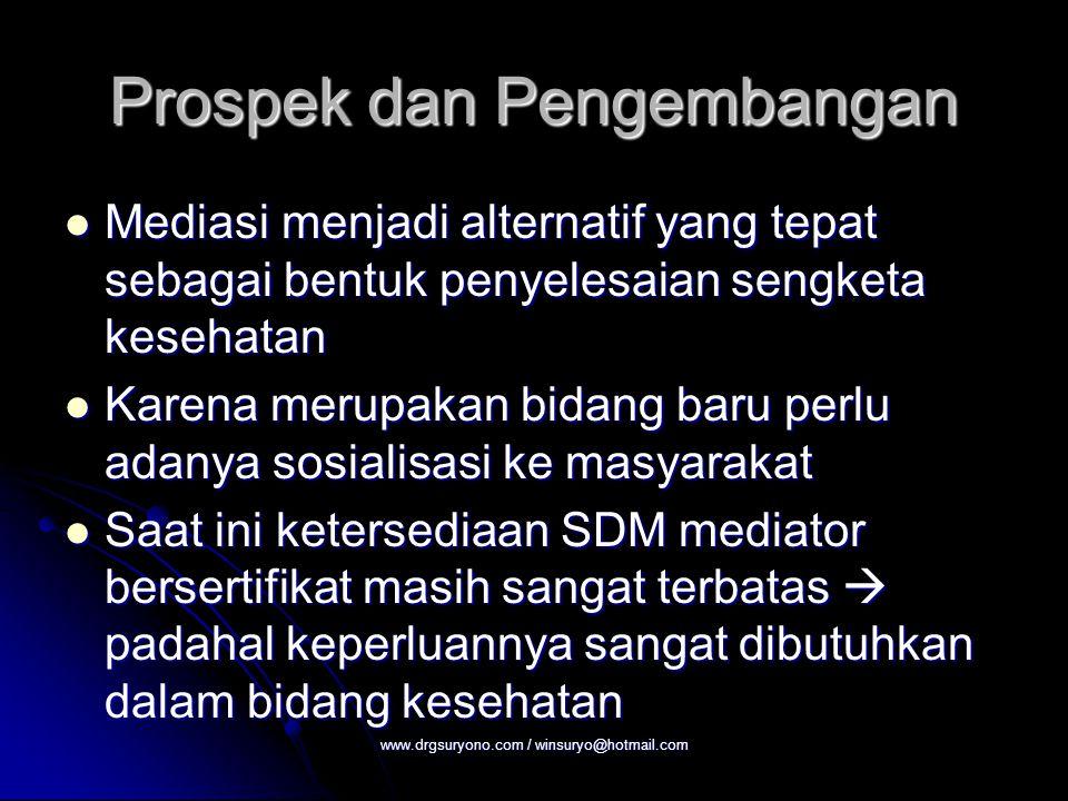 Prospek dan Pengembangan