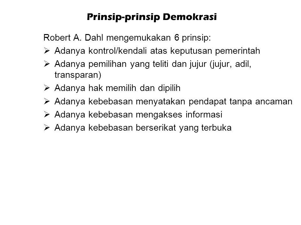 Prinsip-prinsip Demokrasi