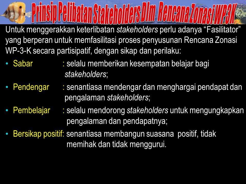 Prinsip Pelibatan Stakeholders Dlm Rencana Zonasi WP3K