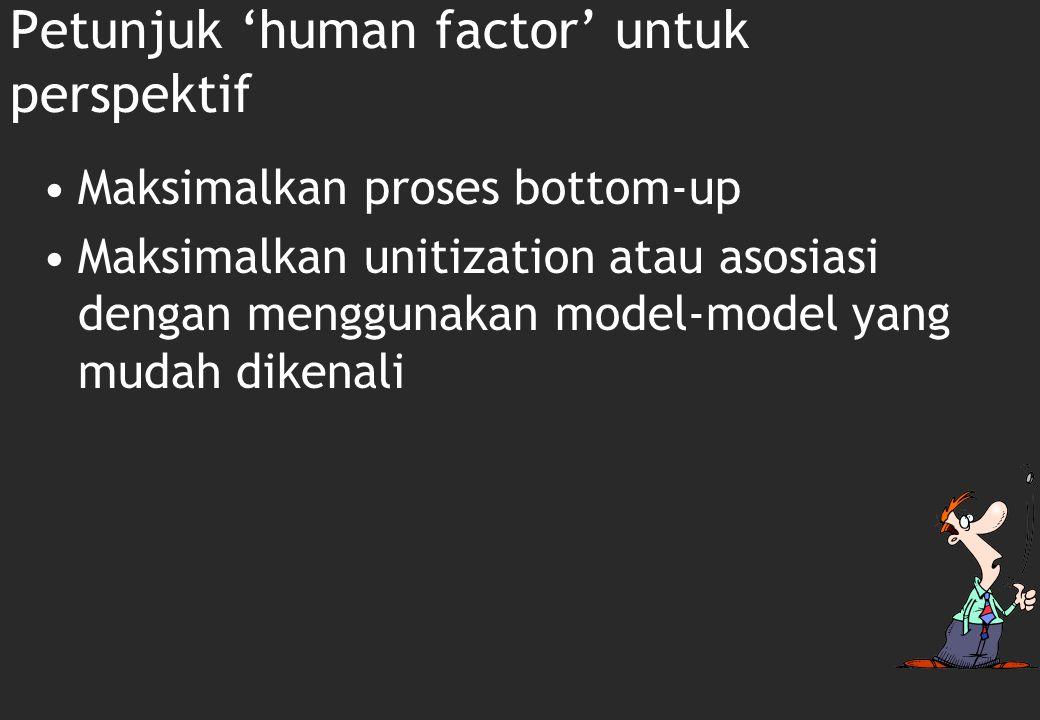 Petunjuk 'human factor' untuk perspektif