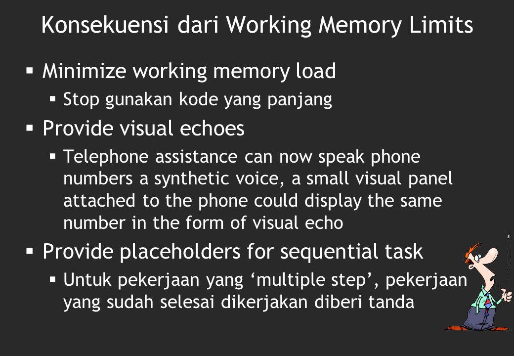 Konsekuensi dari Working Memory Limits