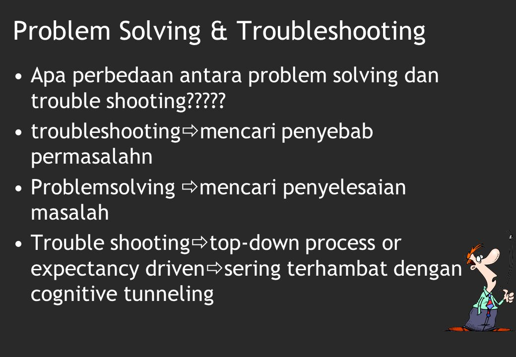 Problem Solving & Troubleshooting