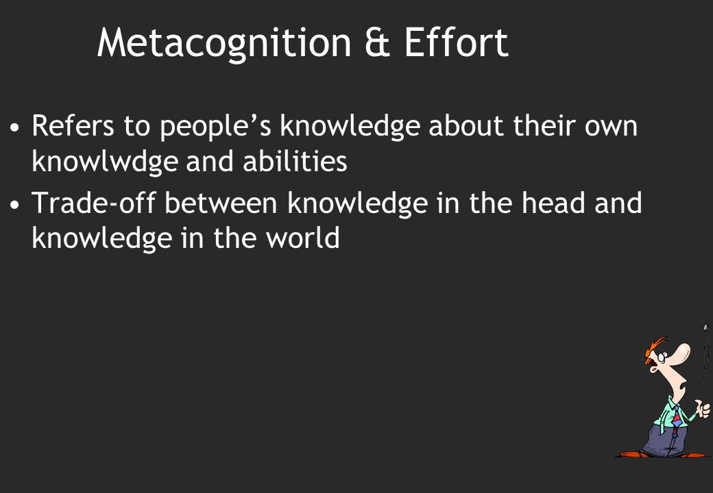 Metacognition & Effort