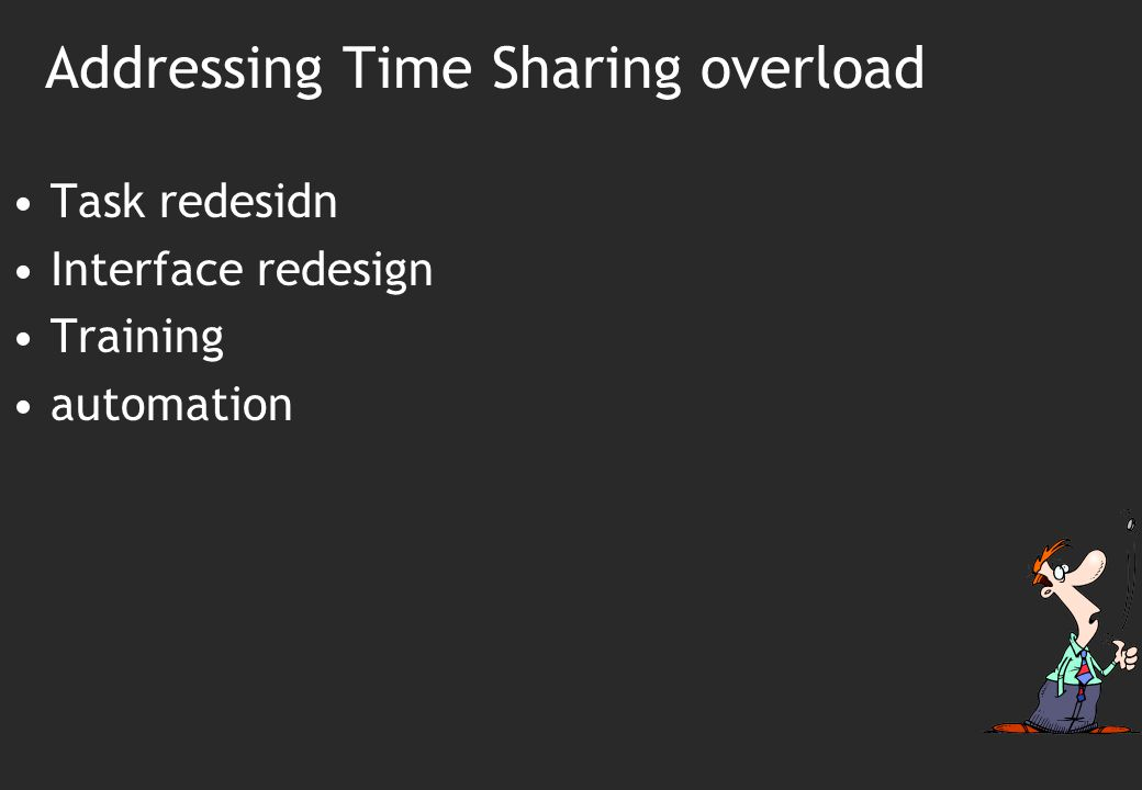 Addressing Time Sharing overload
