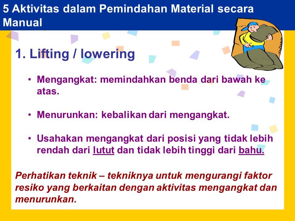 5 Aktivitas dalam Pemindahan Material secara Manual