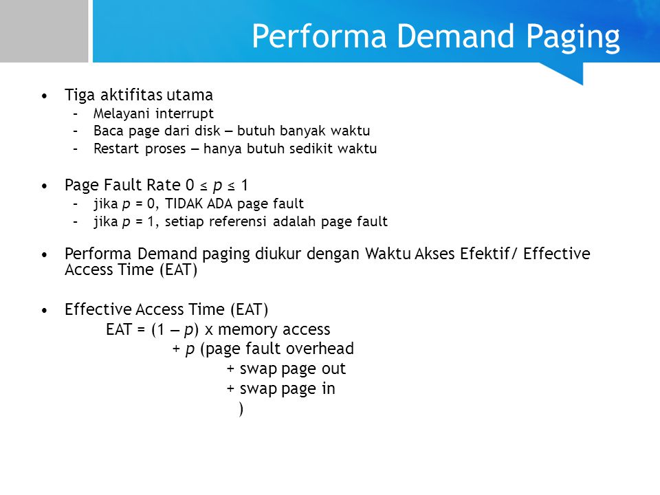 Performa Demand Paging