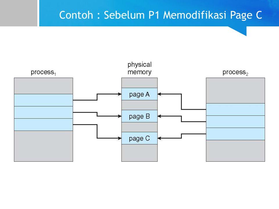 Contoh : Sebelum P1 Memodifikasi Page C