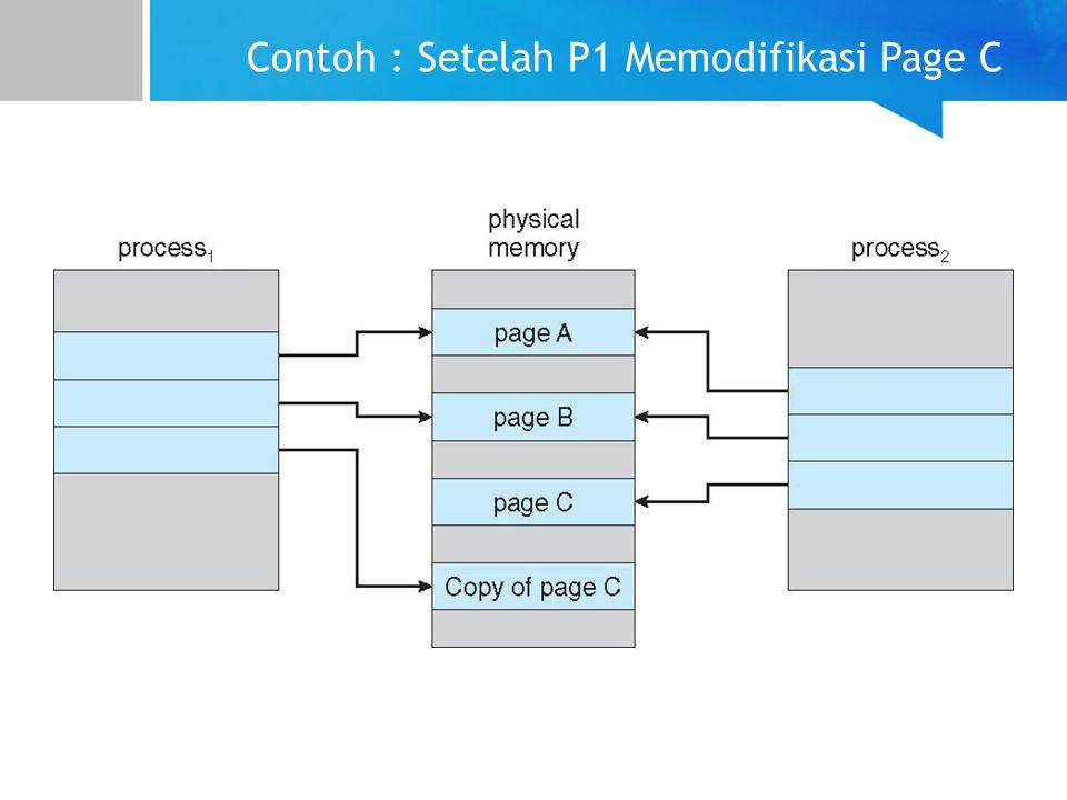 Contoh : Setelah P1 Memodifikasi Page C