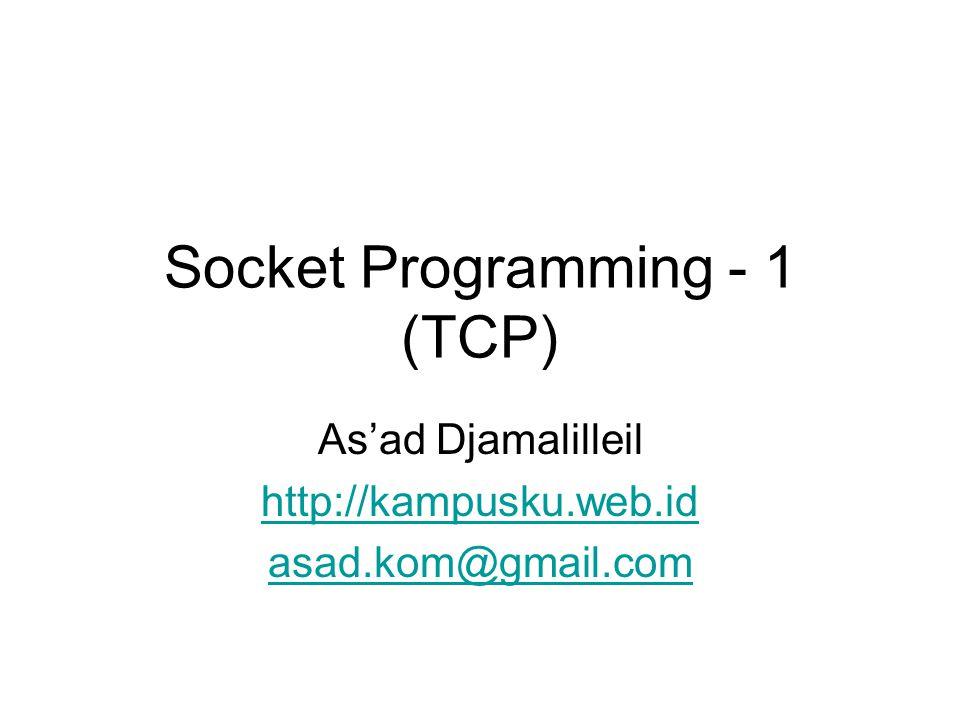Socket Programming - 1 (TCP)
