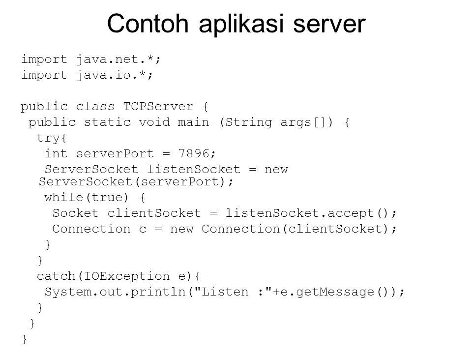 Contoh aplikasi server