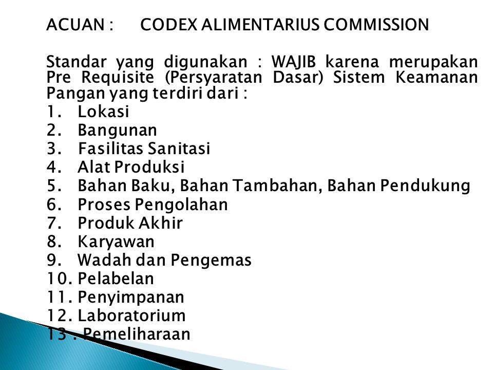 ACUAN : CODEX ALIMENTARIUS COMMISSION