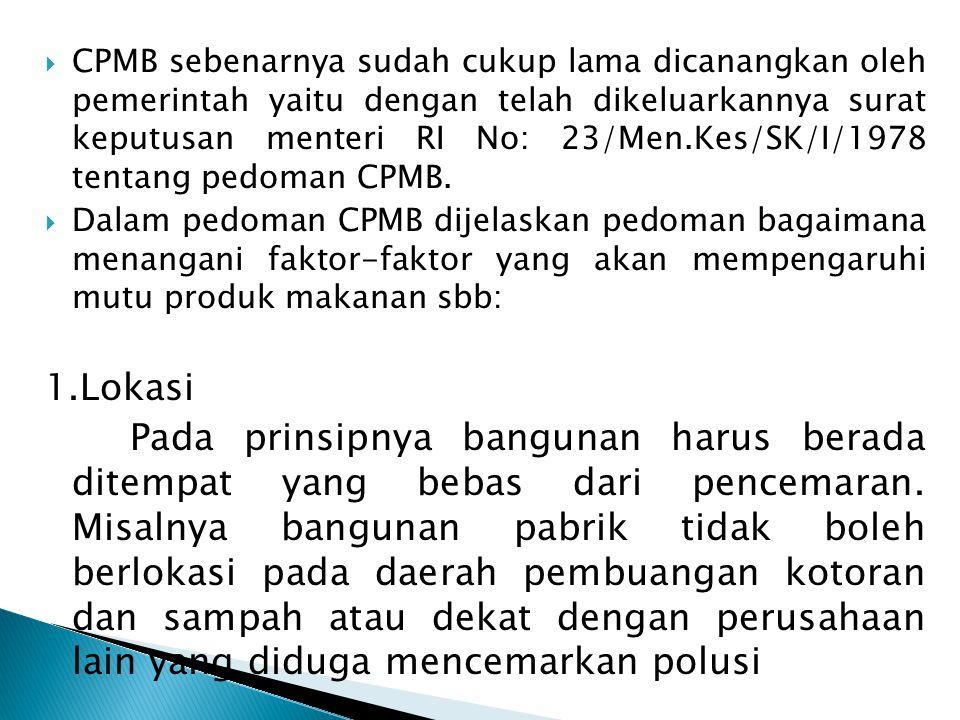 CPMB sebenarnya sudah cukup lama dicanangkan oleh pemerintah yaitu dengan telah dikeluarkannya surat keputusan menteri RI No: 23/Men.Kes/SK/I/1978 tentang pedoman CPMB.