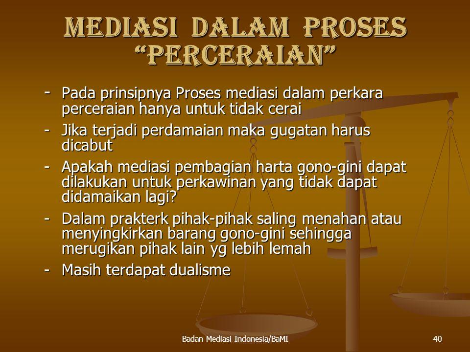 MEDIASI DALAM PROSES PERCERAIAN