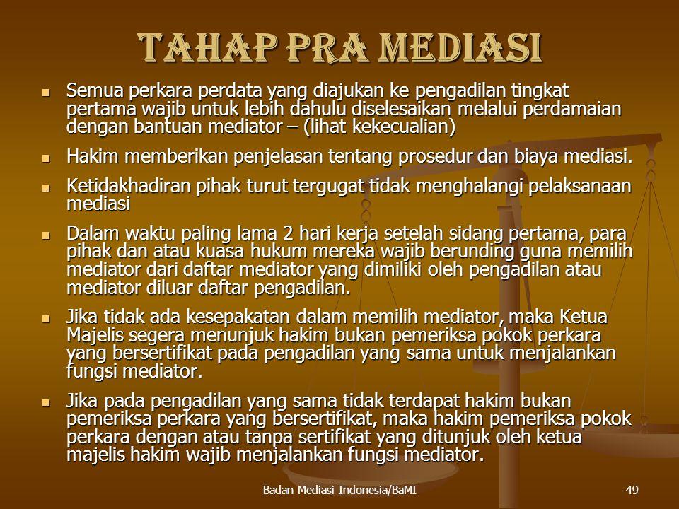 Badan Mediasi Indonesia/BaMI