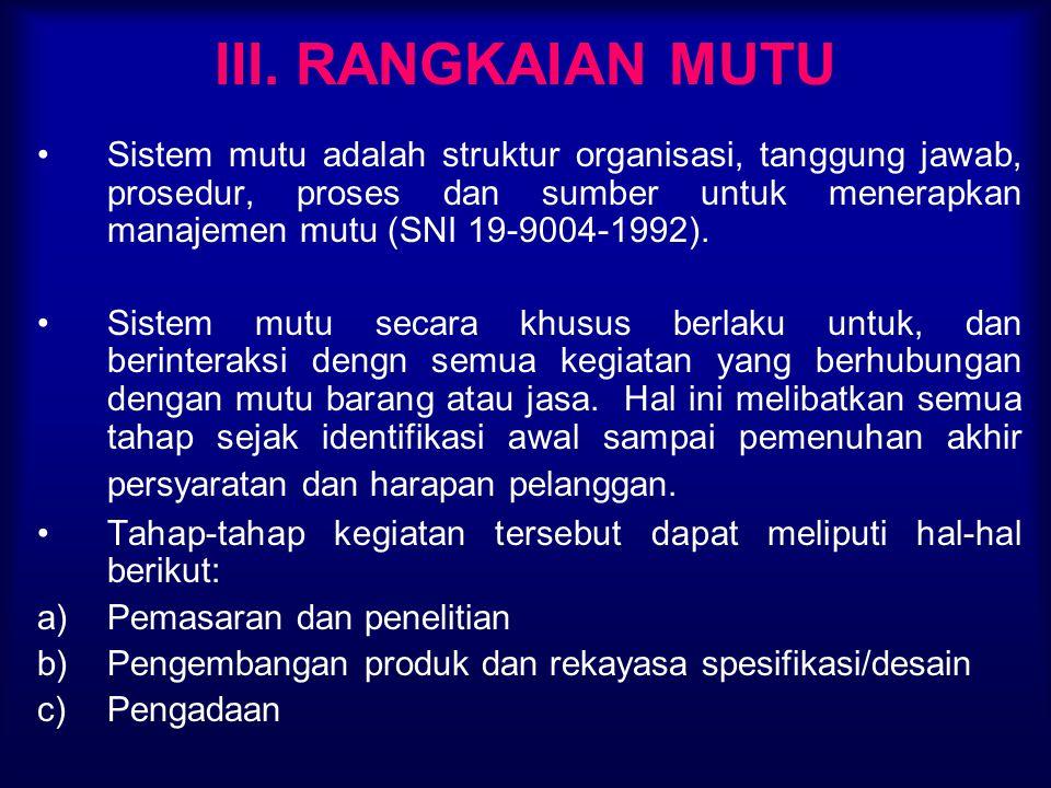III. RANGKAIAN MUTU