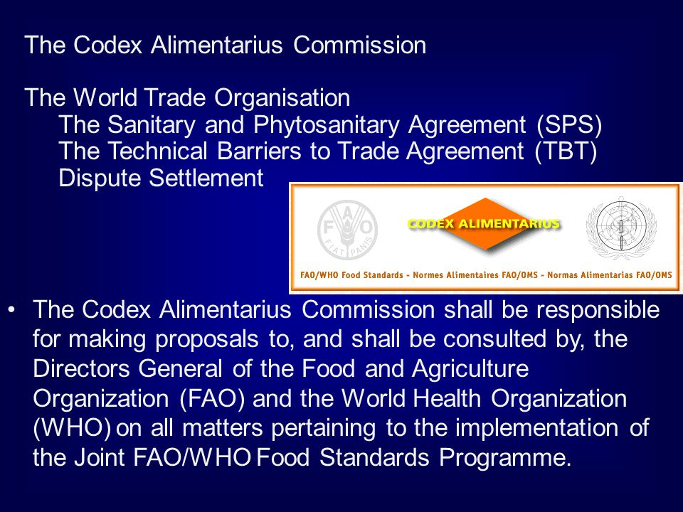 The Codex Alimentarius Commission