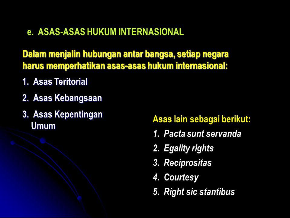 ASAS-ASAS HUKUM INTERNASIONAL