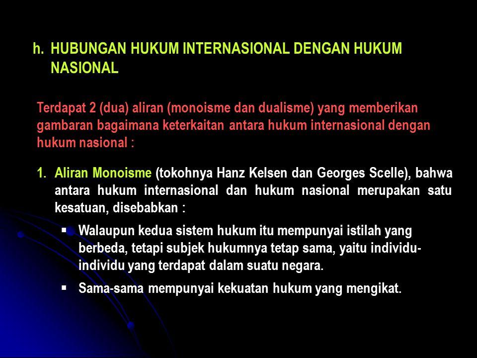 HUBUNGAN HUKUM INTERNASIONAL DENGAN HUKUM NASIONAL