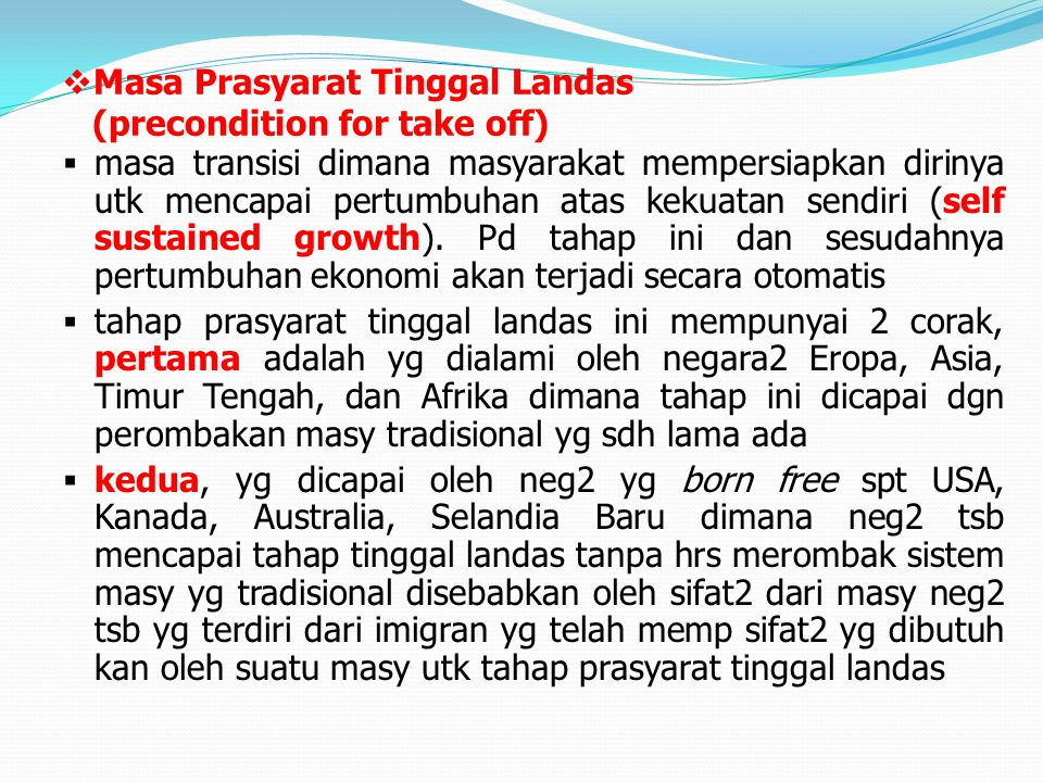 Masa Prasyarat Tinggal Landas (precondition for take off)