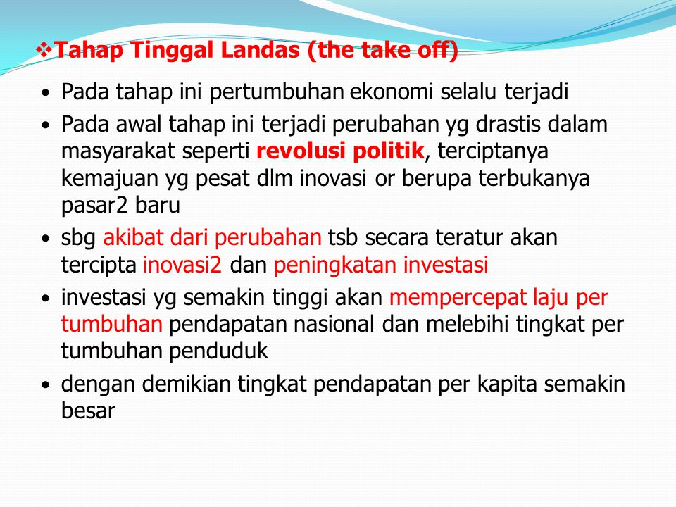 Tahap Tinggal Landas (the take off)